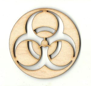 Biohazard Sign - Laser Cut Wood Shape SGN116