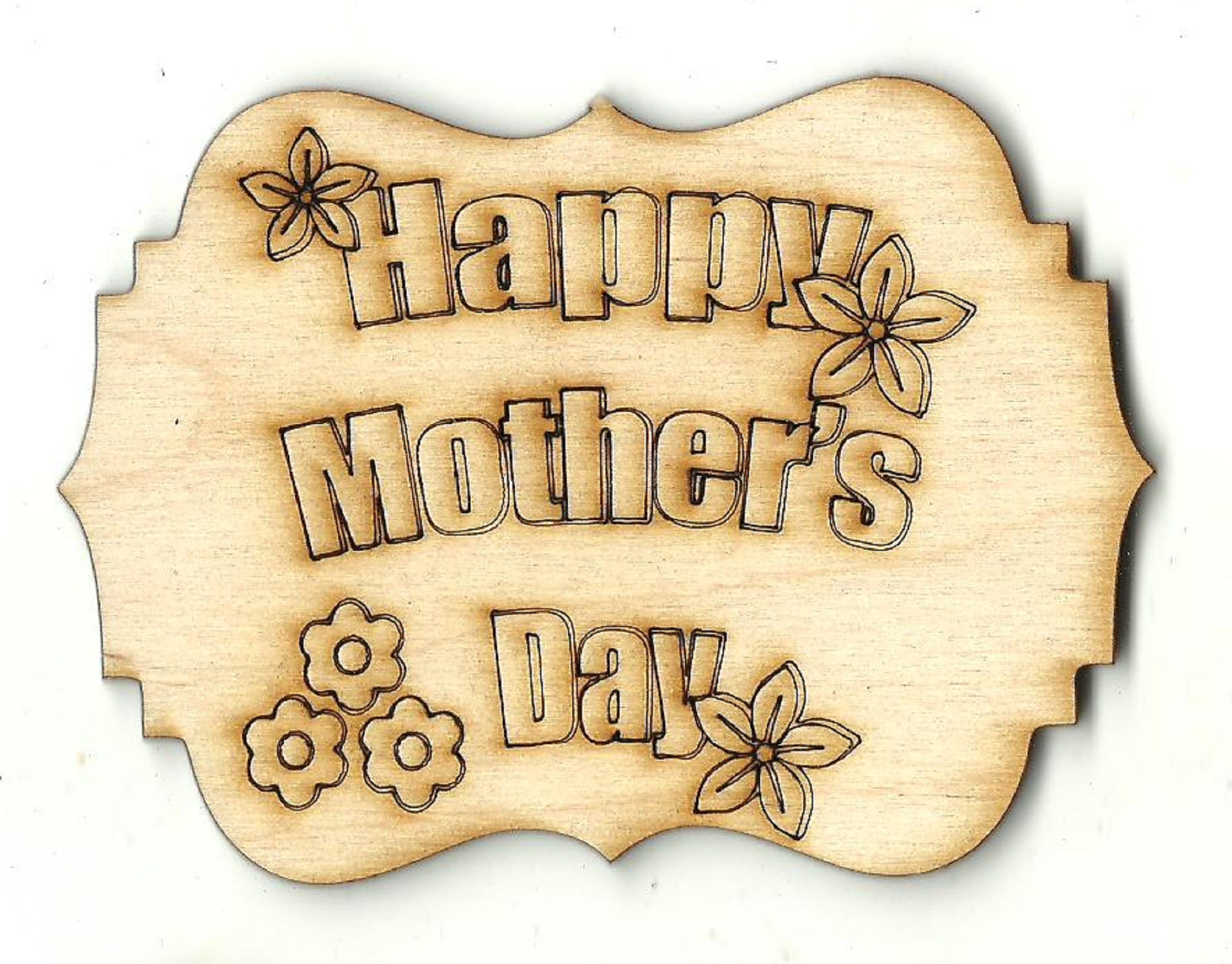 Happy Mothers Day Sign - Laser Cut Wood Shape SGN117