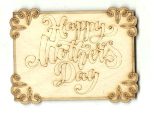 Mothers Day Sign - Laser Cut Wood Shape SGN127