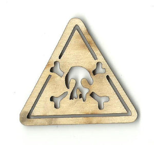 Poison Sign - Laser Cut Wood Shape Sgn38 Craft Supply