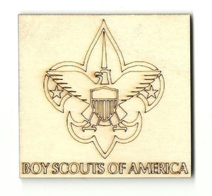 Boy Scouts - Laser Cut Wood Shape Sgn26 Craft Supply