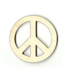 Peace Sign - Laser Cut Wood Shape Sgn34 Craft Supply