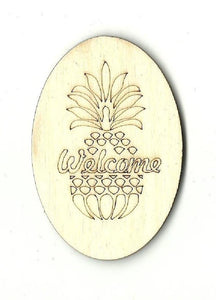 Welcome Pineapple Sign - Laser Cut Wood Shape Sgn9 Craft Supply