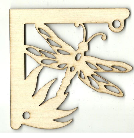Dragonfly Shelf Bracket - Laser Cut Wood Shape Shlf10 Craft Supply