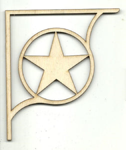 Star Shelf Bracket - Laser Cut Wood Shape Shlf12 Craft Supply