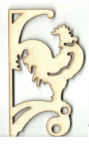 Rooster Shelf Bracket - Laser Cut Wood Shape Shlf13 Craft Supply