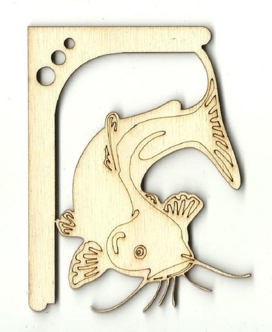 Catfish Shelf Bracket - Laser Cut Wood Shape Shlf15 Craft Supply