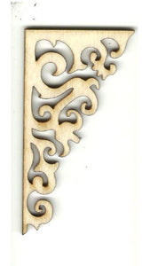 Decorative Shelf Bracket - Laser Cut Wood Shape Shlf17 Craft Supply