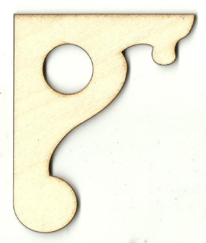 Decorative Shelf Bracket - Laser Cut Wood Shape Shlf4 Craft Supply
