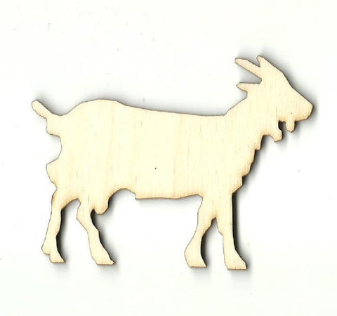 Goat - Laser Cut Wood Shape Shp11 Craft Supply