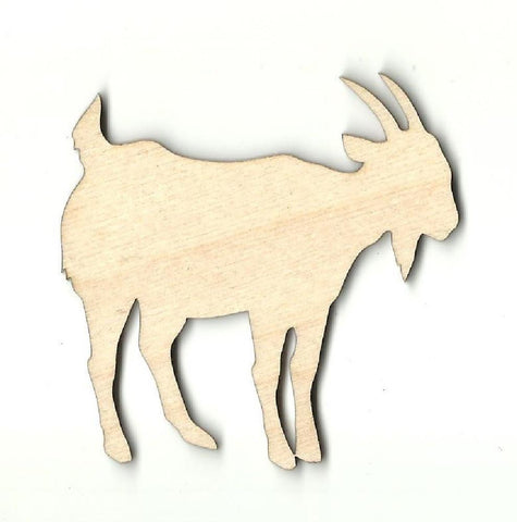 Goat - Laser Cut Wood Shape Shp12 Craft Supply