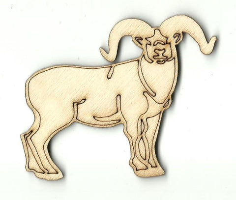 Ram - Laser Cut Wood Shape Shp18 Craft Supply