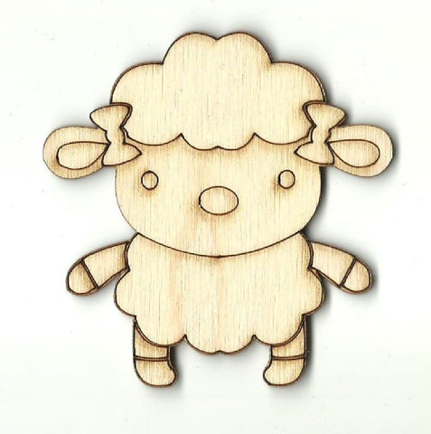Sheep - Laser Cut Wood Shape Shp19 Craft Supply