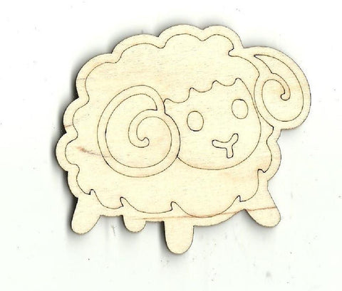 Sheep - Laser Cut Wood Shape Shp1 Craft Supply