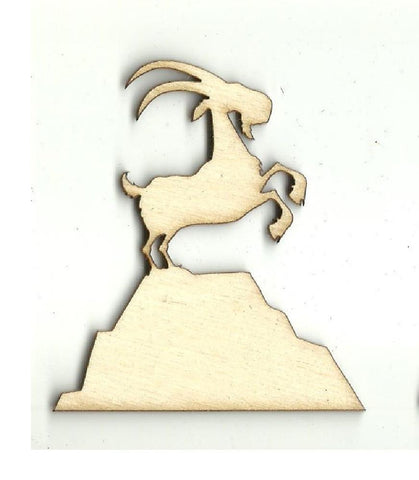 Mountain Goat - Laser Cut Wood Shape Shp20 Craft Supply