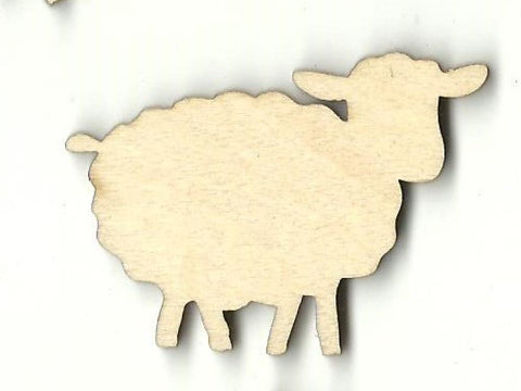 Sheep - Laser Cut Wood Shape Shp23 Craft Supply