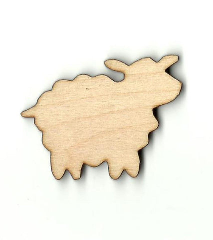Sheep - Laser Cut Wood Shape Shp2 Craft Supply