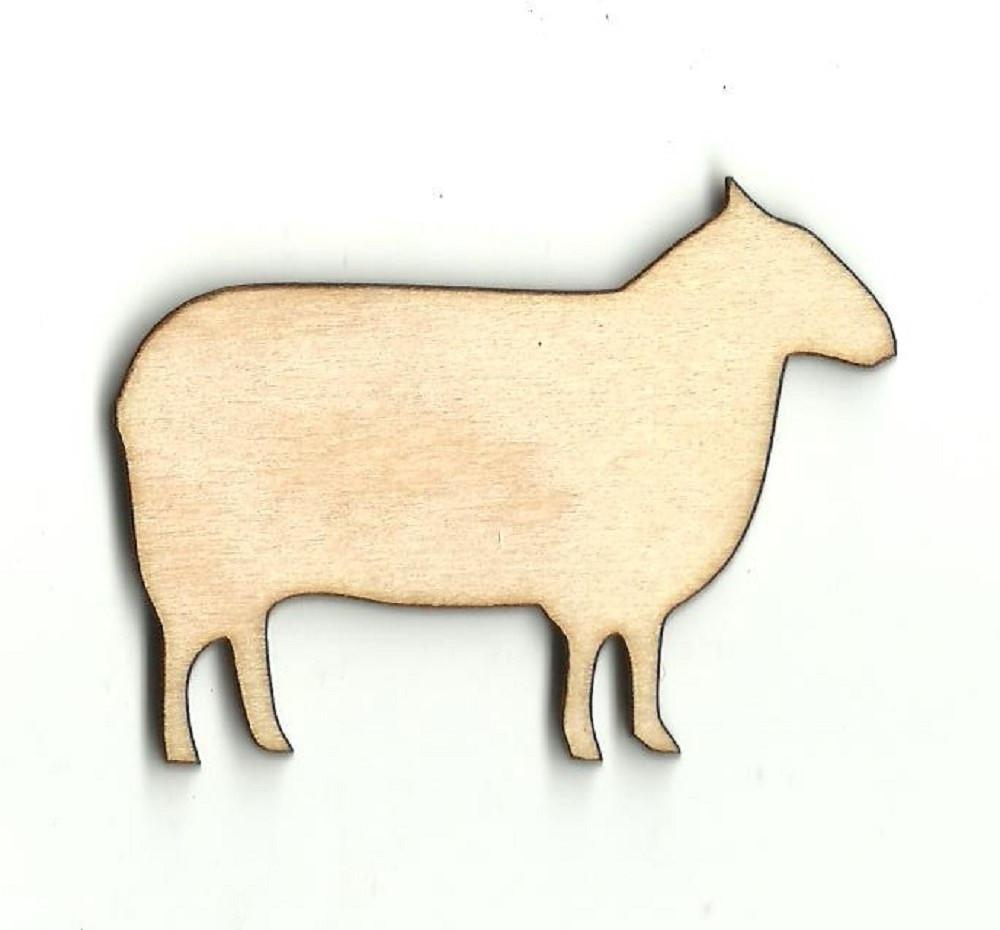 Sheep - Laser Cut Wood Shape Shp6 Craft Supply