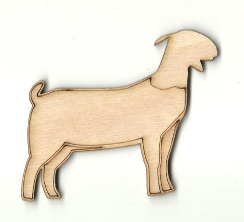 Goat - Laser Cut Wood Shape Shp8 Craft Supply