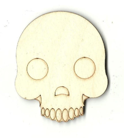 Skull - Laser Cut Wood Shape Skl10 Craft Supply