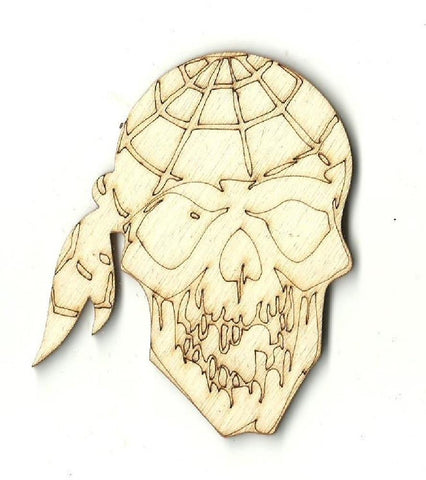 Pirate Skull - Laser Cut Wood Shape Skl14 Craft Supply