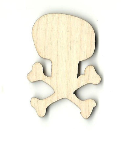 Skull & Crossbones - Laser Cut Wood Shape Skl17 Craft Supply