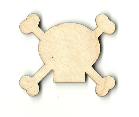 Skull & Crossbones - Laser Cut Wood Shape Skl19 Craft Supply