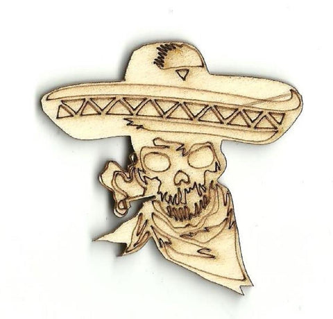 Day Of The Dead Skull - Laser Cut Wood Shape Skl1 Craft Supply