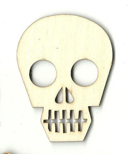 Skull - Laser Cut Wood Shape Skl21 Craft Supply