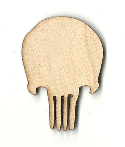Skull - Laser Cut Wood Shape Skl23 Craft Supply