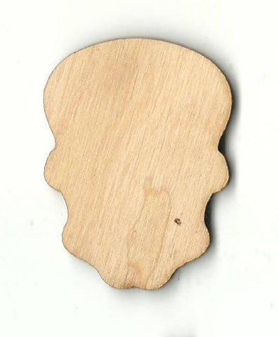 Skull - Laser Cut Wood Shape Skl24 Craft Supply