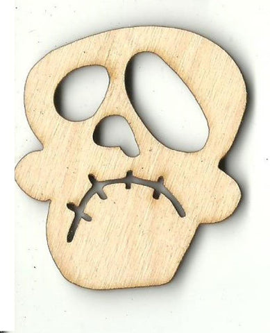 Skull - Laser Cut Wood Shape Skl26 Craft Supply