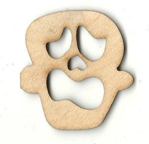 Skull - Laser Cut Wood Shape Skl27 Craft Supply