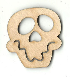 Happy Skull - Laser Cut Wood Shape Skl28 Craft Supply
