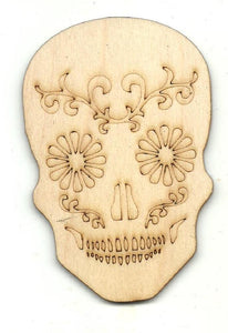 Day Of The Dead Skull - Laser Cut Wood Shape Skl30 Craft Supply