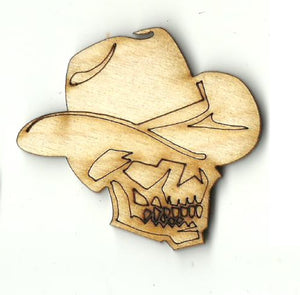 Cowboy Skull - Laser Cut Wood Shape SKL31