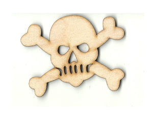 Skull & Crossbones - Laser Cut Wood Shape SKL32