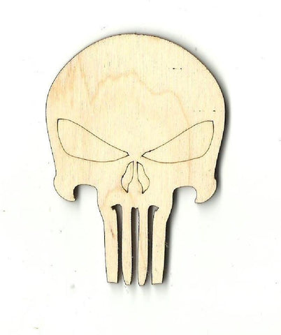 Skull - Laser Cut Wood Shape Skl4 Craft Supply