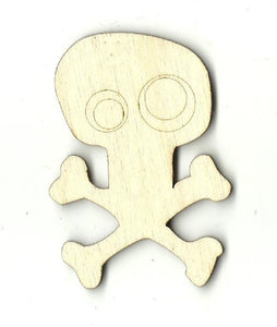 Skull & Crossbones - Laser Cut Wood Shape Skl9 Craft Supply