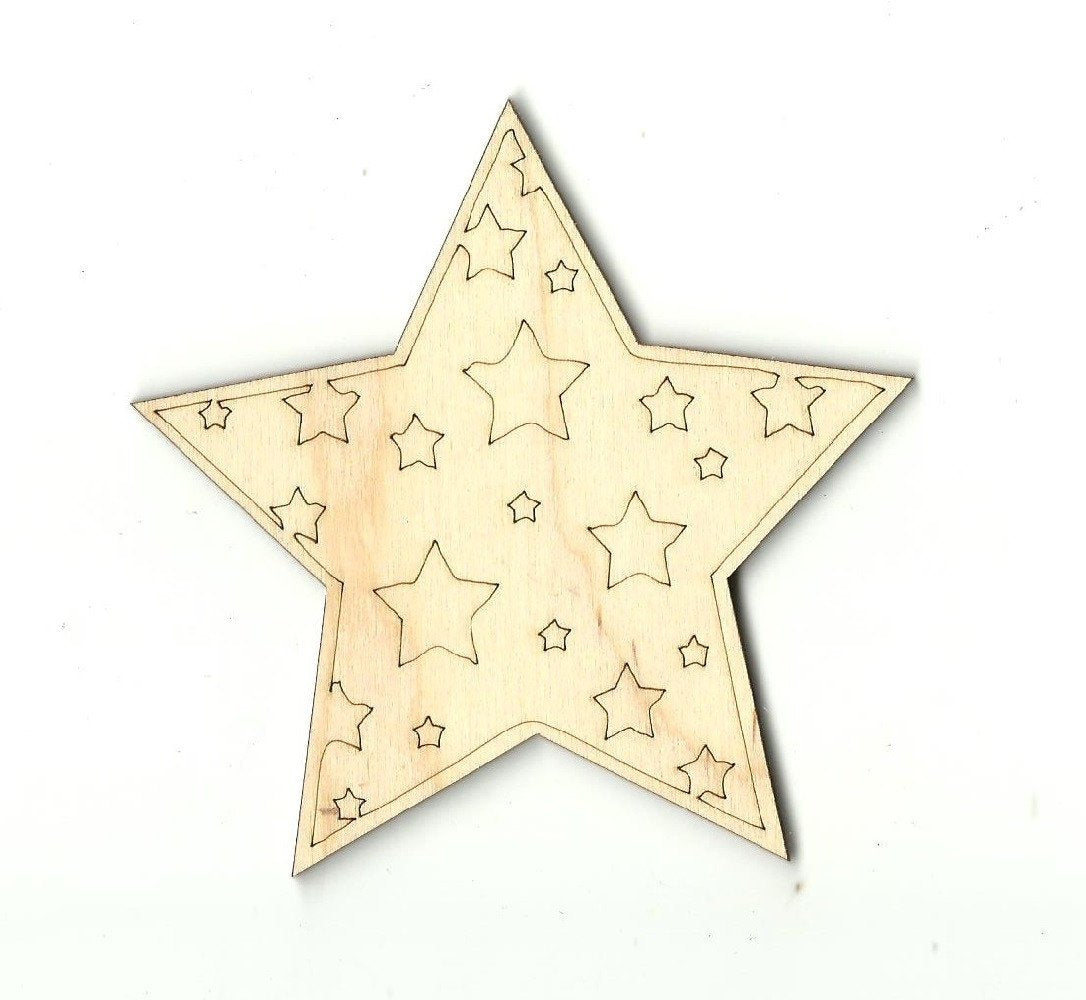 Star - Laser Cut Wood Shape Sky10 Craft Supply