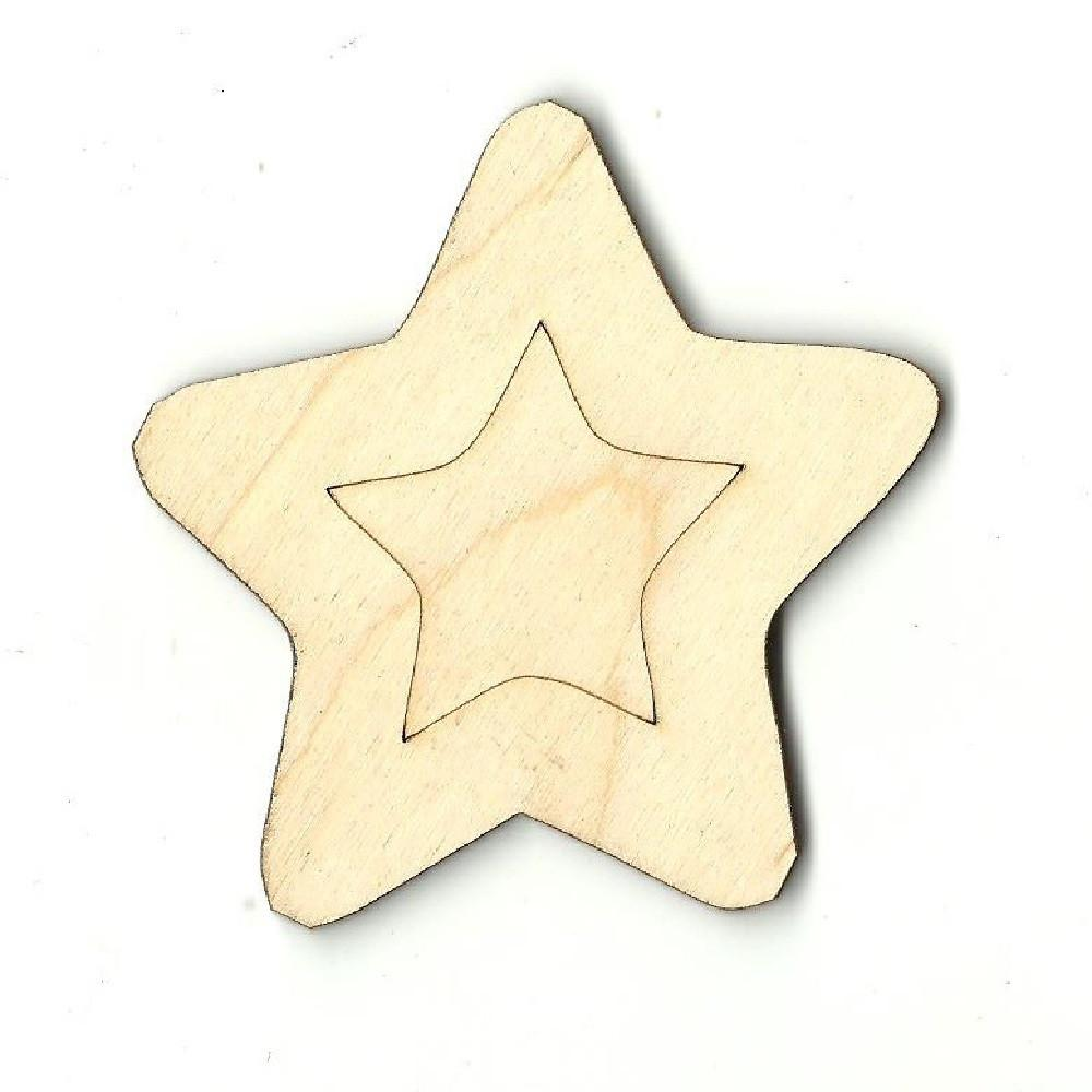Star - Laser Cut Wood Shape Sky11 Craft Supply