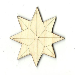 Star - Laser Cut Wood Shape Sky12 Craft Supply