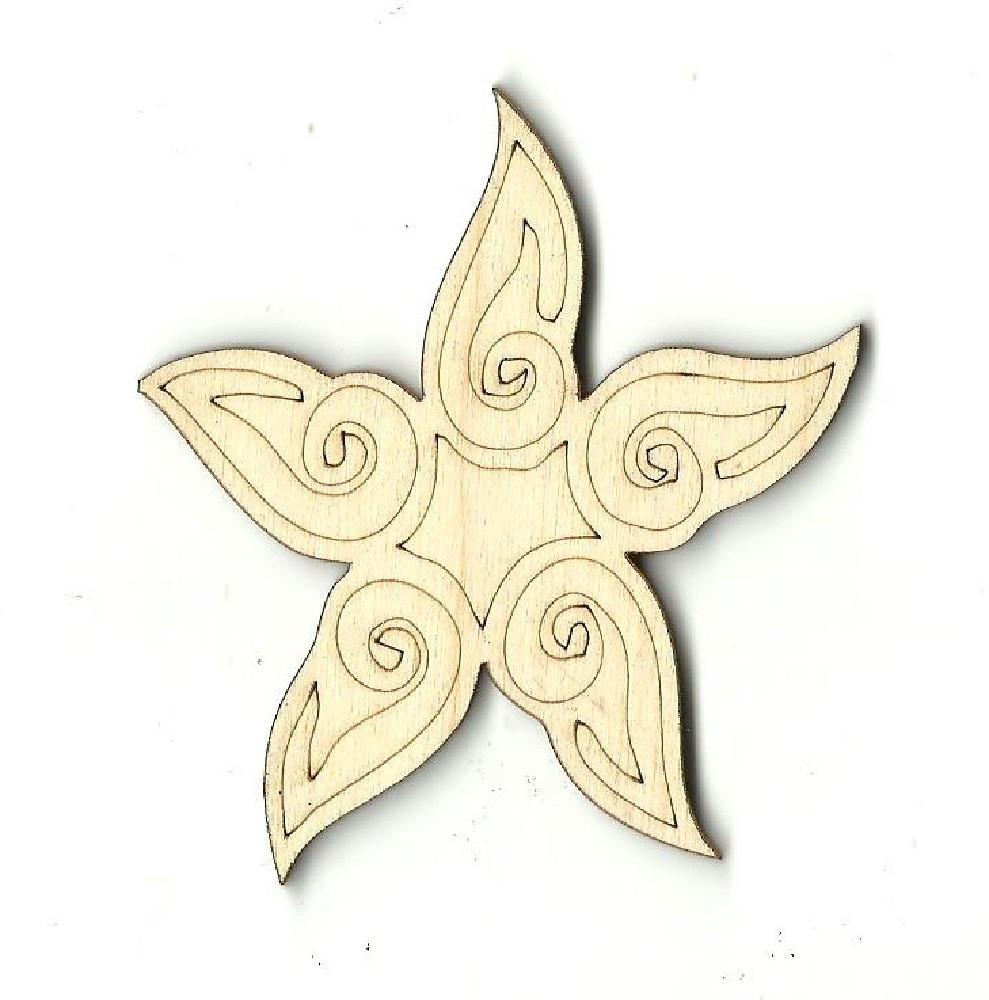 Star - Laser Cut Wood Shape Sky13 Craft Supply