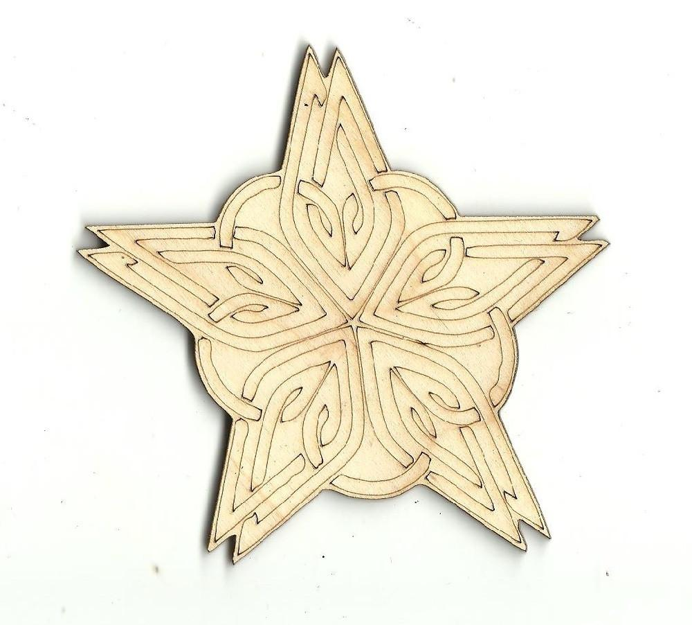 Star - Laser Cut Wood Shape Sky14 Craft Supply