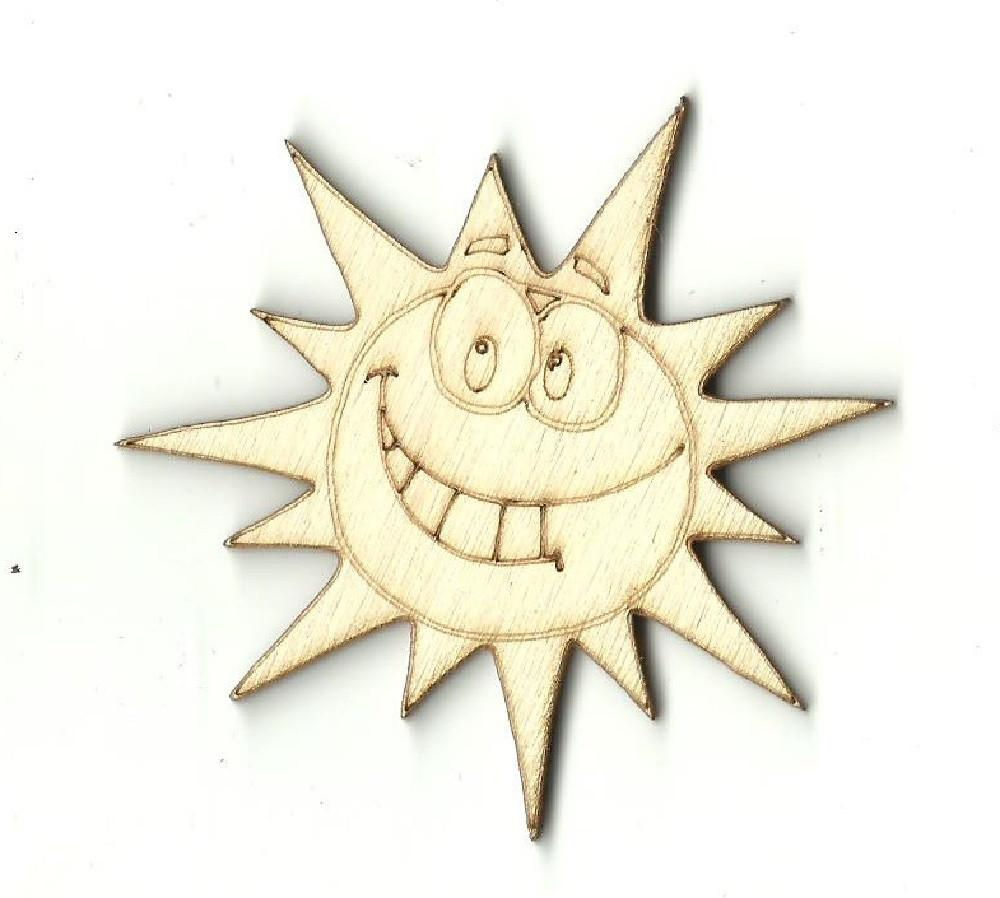 Sun - Laser Cut Wood Shape Sky18 Craft Supply