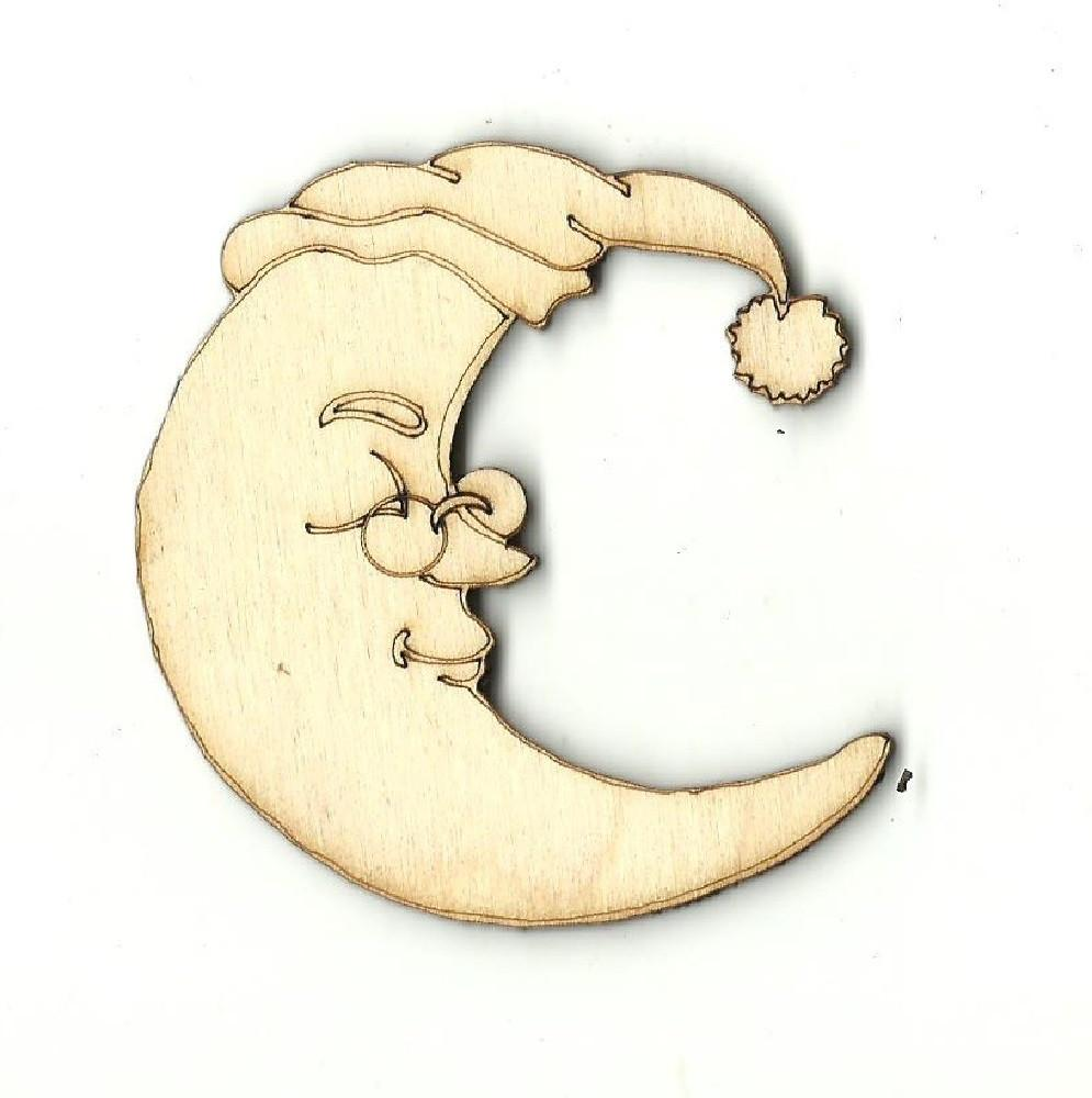 Moon - Laser Cut Wood Shape Sky20 Craft Supply