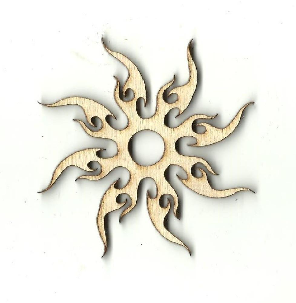 Sun - Laser Cut Wood Shape Sky23 Craft Supply