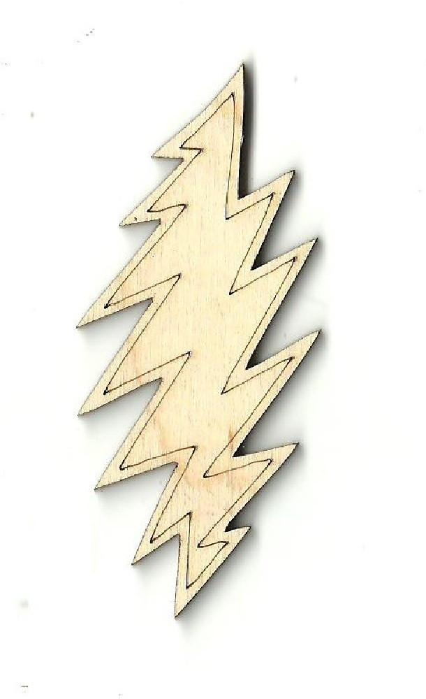 Lightning Bolt - Laser Cut Wood Shape Sky3 Craft Supply