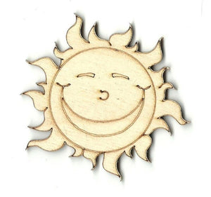 Sun - Laser Cut Wood Shape Sky7 Craft Supply