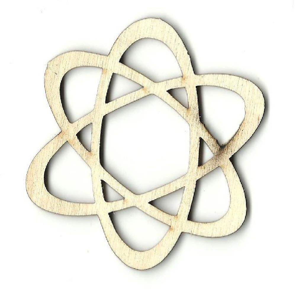 Atom - Laser Cut Wood Shape Snc1 Craft Supply